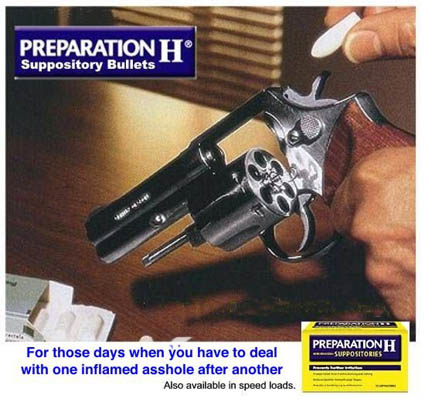 Preparation H Suppository Bullets