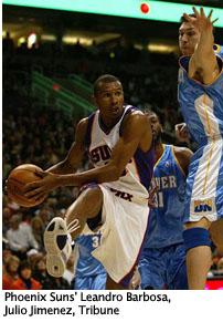 "Phoenix Suns\""™ Leandro Barbosa, by Julio Jimenez, Tribune"