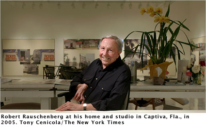 Robert Rauschenberg, Tony Cenicola/The New York Times