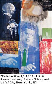 "Robert Rauschenberg, \""Retroactive I,\"" 1963"