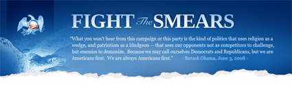 Fight the Smears Web Site