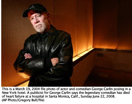 George Carlin, by Gregory Bull/AP