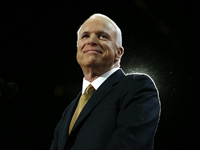 Republican presidential nominee Senator John McCain (R-AZ) arrives to accept the nomination Minnesota September 4, 2008. REUTERS/Shannon Stapleton