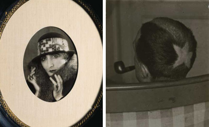 Rrose Sélavy by Duchamps and Man Ray & Tonsure (rear view), by Man Ray