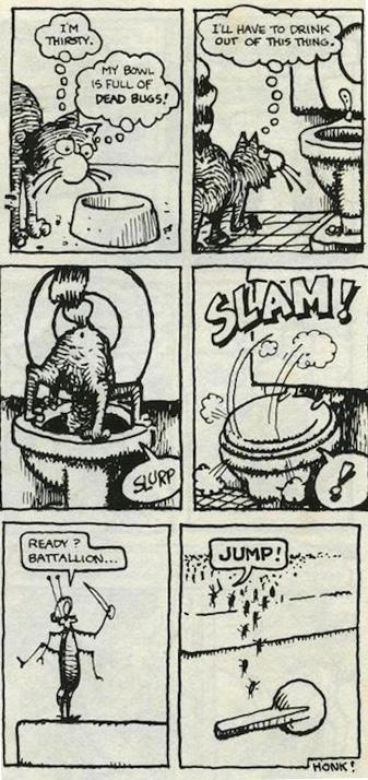 Panels from Gilbert Shelton's Fabulous Furry Freak Brothers