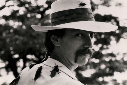 Joey Skaggs, aka Dr. Josef Gregor, poses as a world-famous entomologist during his Metamorphosis hoax in 1981