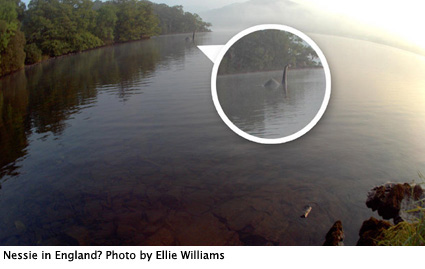 Nessie in England? Photo by Ellie Williams